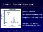 growth hormone secretion1