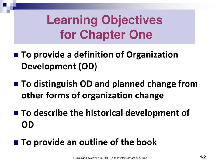 objectives of planned change