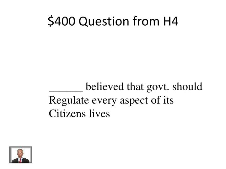$400 Question from H4