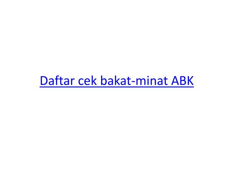 Daftar cek bakat-minat ABK