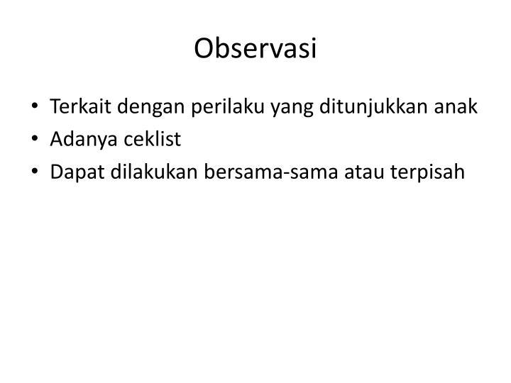 Observasi