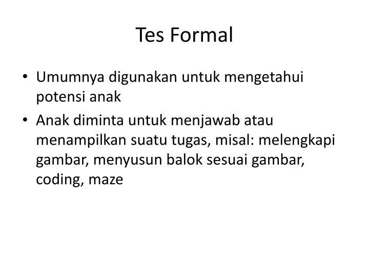 Tes Formal