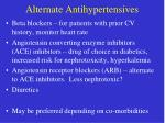 alternate antihypertensives