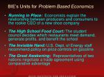 bie s units for problem based economics