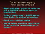 tips for creating an engaging entry point to a pbl unit