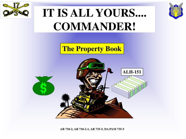 it is all yours commander n.