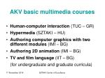 akv basic multimedia courses