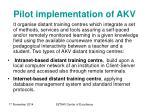 pilot implementation of akv