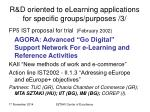 r d oriented to elearning applications for specific groups purposes 3