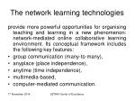 the network learning technologies