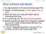 what is branch and bound