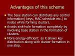 advantages of this scheme