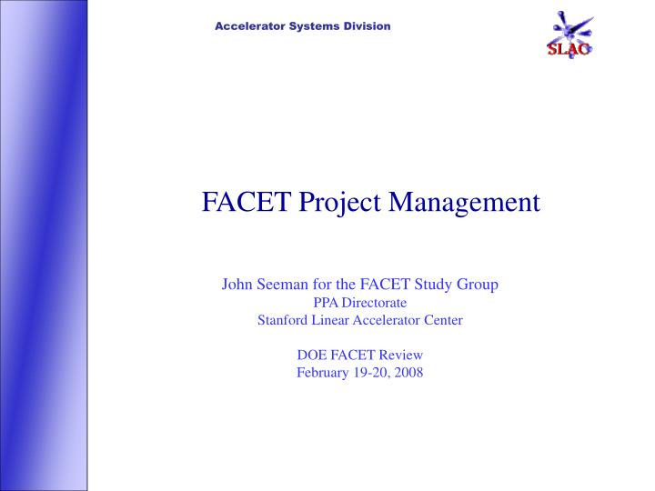 facet project management n.