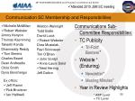 communication sc membership and responsibilities