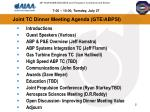 joint tc dinner meeting agenda gte abpsi