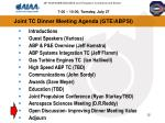 joint tc dinner meeting agenda gte abpsi1