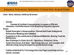 subsystem performance optimization technical area scope charter