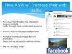 how anw will increase their web traffic