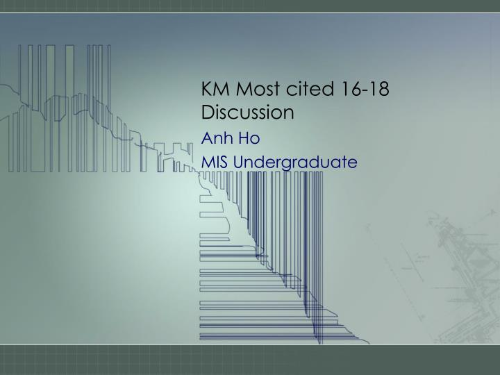 km most cited 16 18 discussion n.
