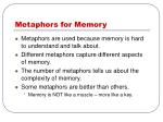 metaphors for memory
