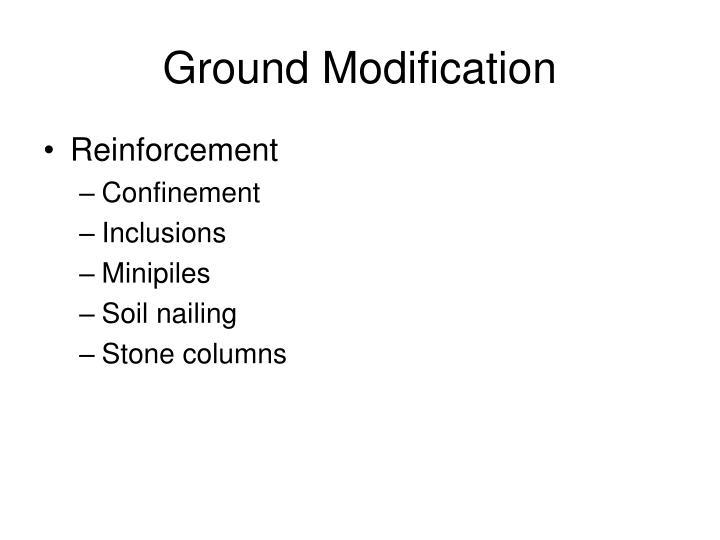 Ground Modification