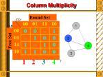 column multiplicity