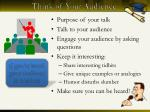 think of your audience