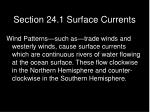 section 24 1 surface currents