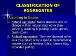 classification of aggregates