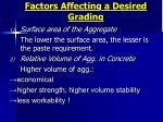 factors affecting a desired grading