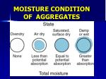 moisture condition of aggregates1