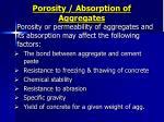 porosity absorption of aggregates