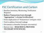 fsc certification and carbon