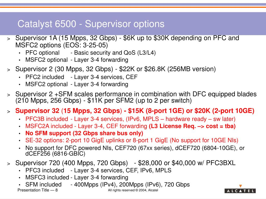 PPT - Cisco Catalyst 6500 Competitive Positioning PowerPoint