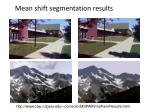 mean shift segmentation results