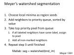meyer s watershed segmentation