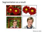 segmentation as a result