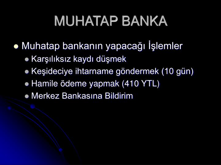 MUHATAP BANKA