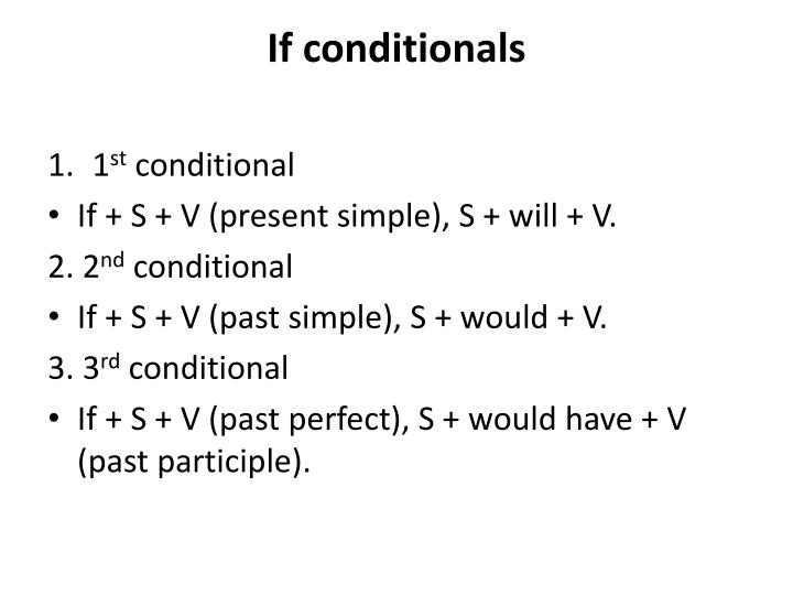 If conditionals