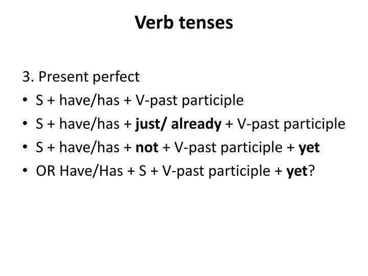 Verb tenses1