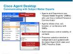 cisco agent desktop communicating with subject matter experts