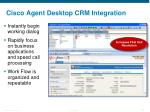 cisco agent desktop crm integration