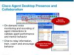 cisco agent desktop presence and collaboration