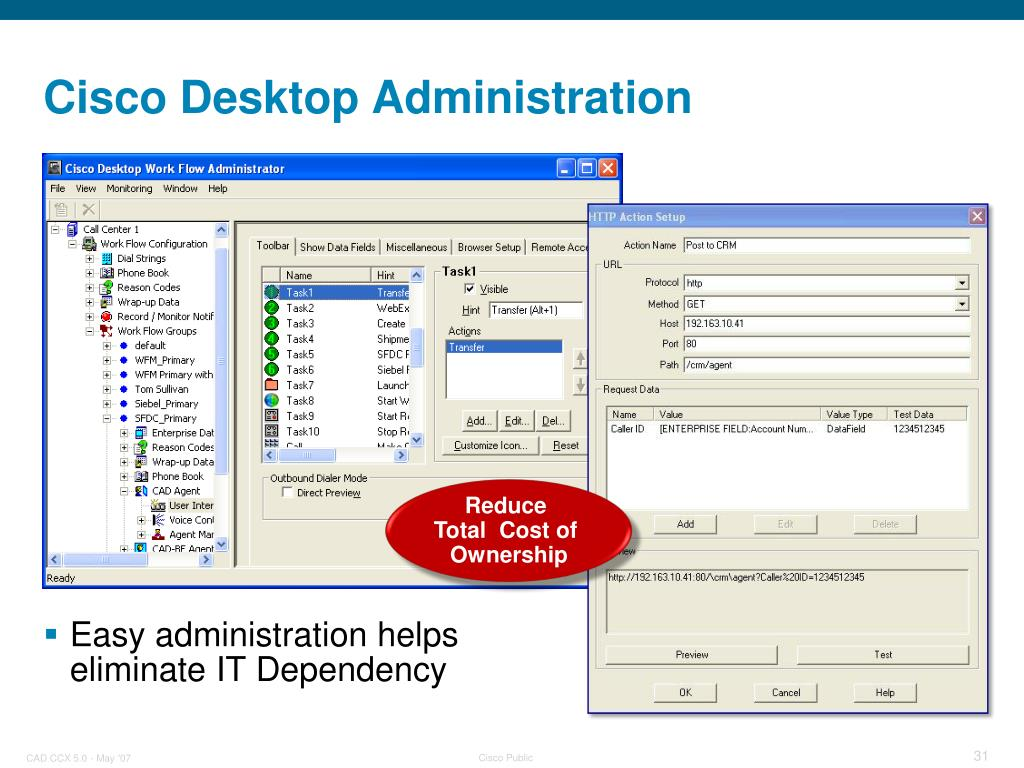 PPT - Cisco Agent Desktop for Cisco Unified Contact Center