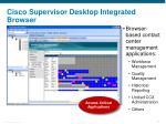 cisco supervisor desktop integrated browser