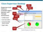 cisco supervisor desktop