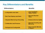 key differentiators and benefits