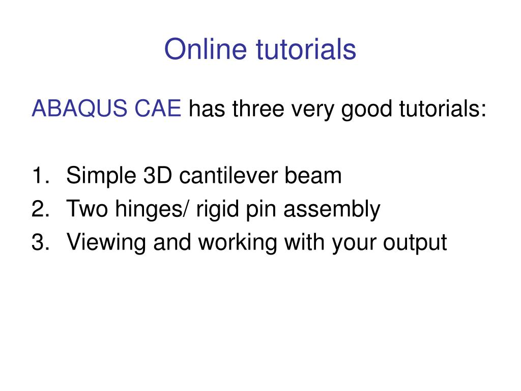 PPT - AE4131 ABAQUS Lecture Part III PowerPoint Presentation - ID