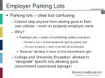 employer parking lots