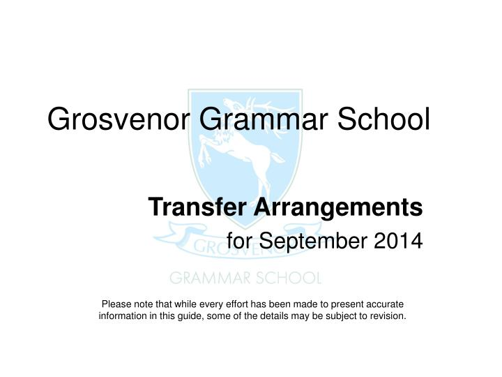 grosvenor grammar school n.